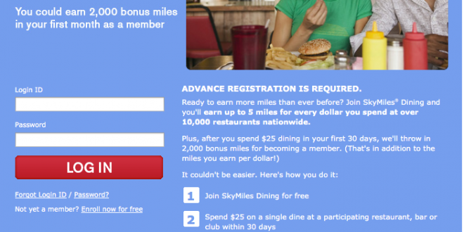 2000 Free Delta SkyMiles From SkyMiles Dining